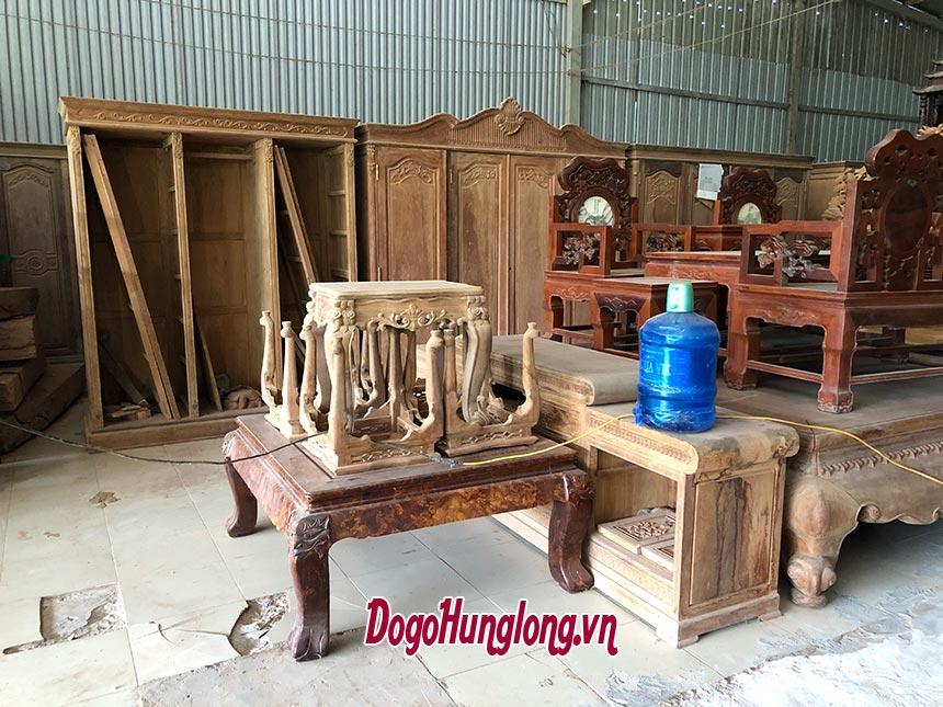 Phân xưởng hoàn thiện sản phẩm Đồ gỗ Hưng Long