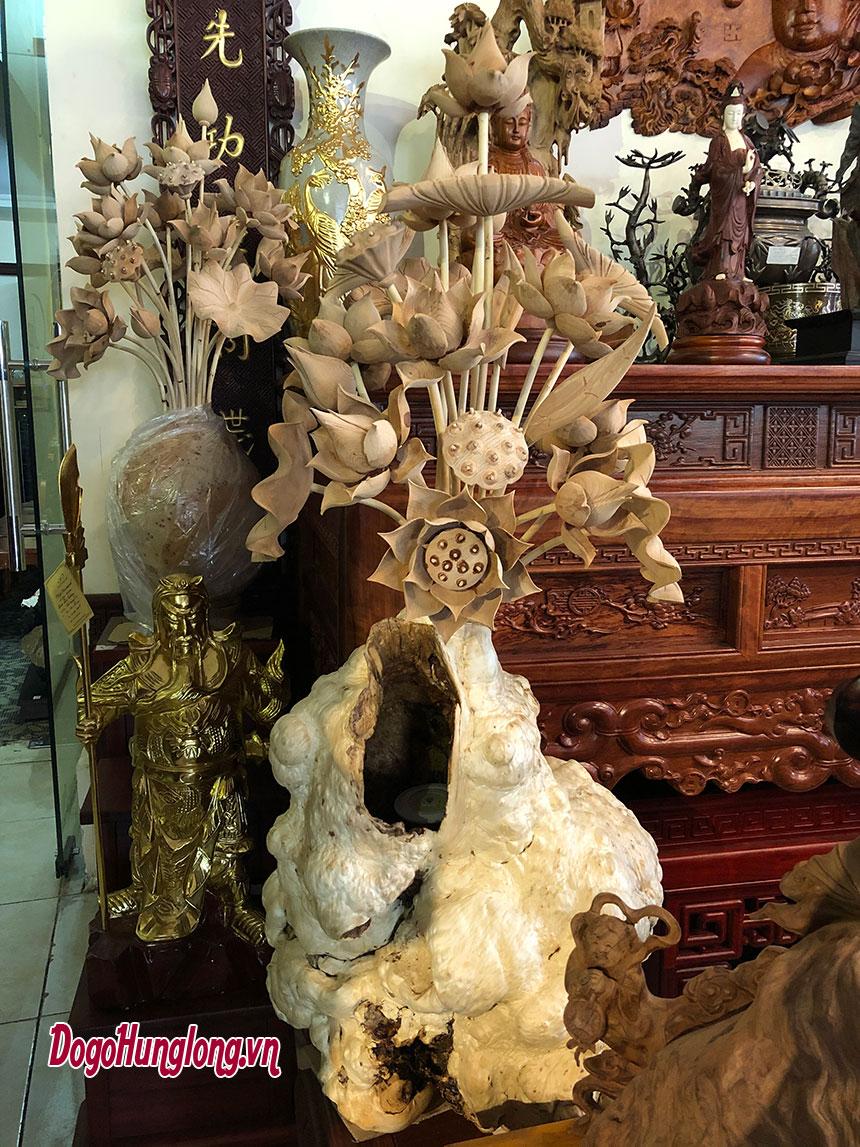 Top mẫu sen thờ gỗ cao cấp