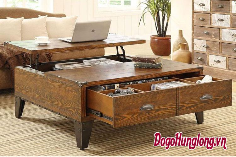 Những mẫu bàn gỗ tự nhiên độc lạ dành cho phòng khách