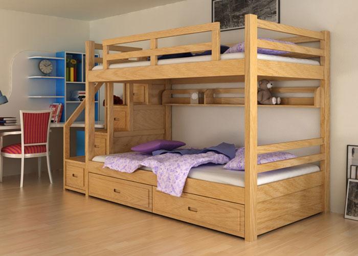 Nội thất căn hộ nhỏ bằng gỗ sồi