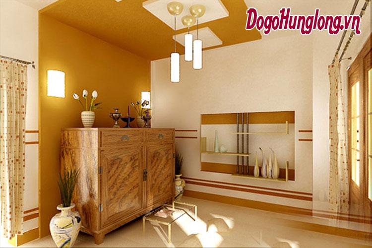 4 thiết kế phòng thờ sang trọng với nội thất gỗ tươi sáng