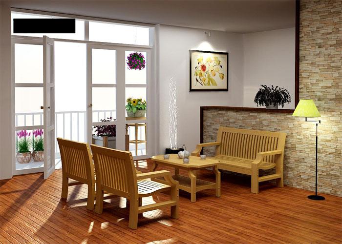 Phong cách thiết kế mới với sàn gỗ tự nhiên