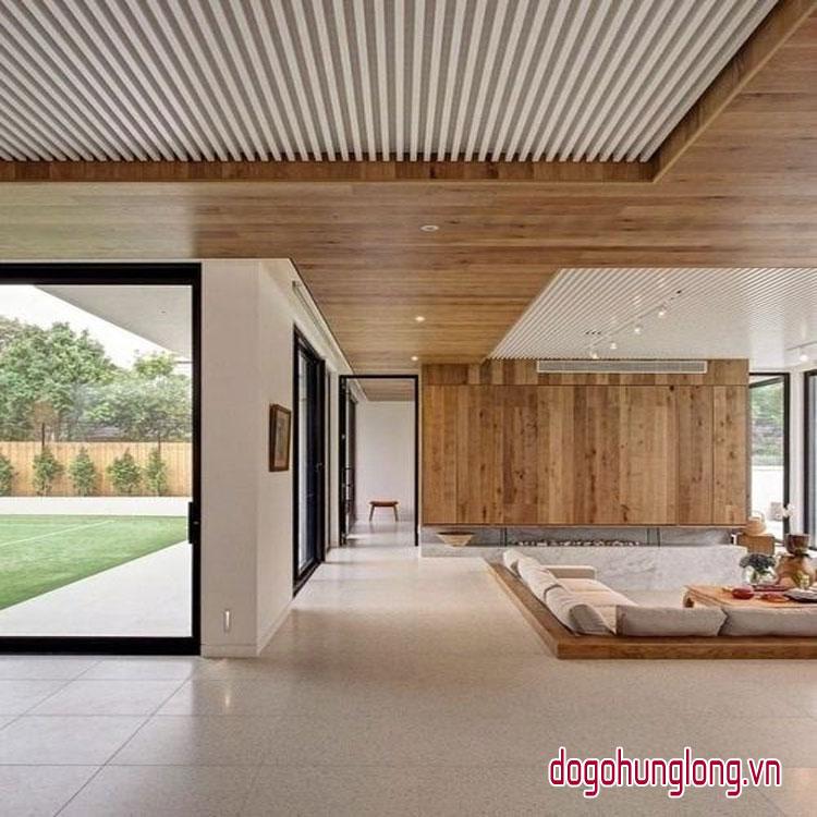 cập nhật mẫu trần gỗ mới nhất 2018