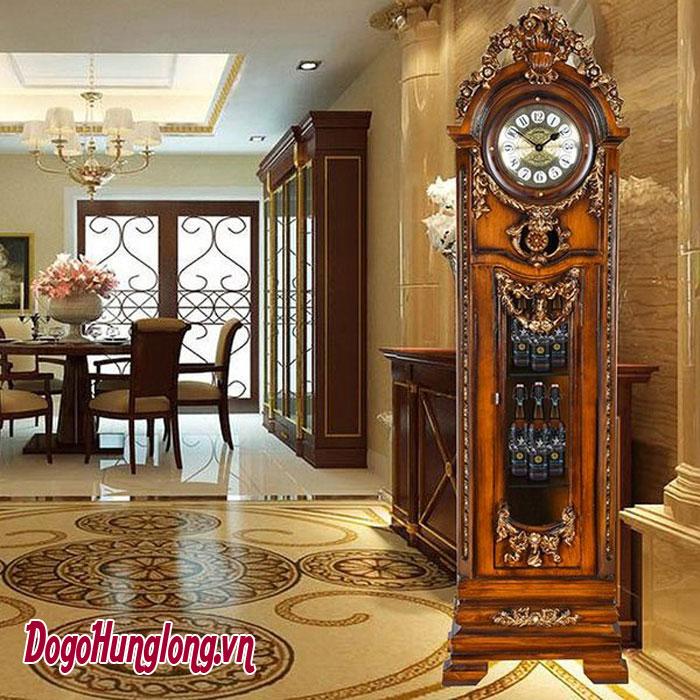 Đồng hồ gỗ dạng cây trang trí phòng khách