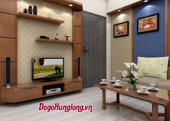 Cách chọn kệ tivi gỗ cho phòng khách hiện đại