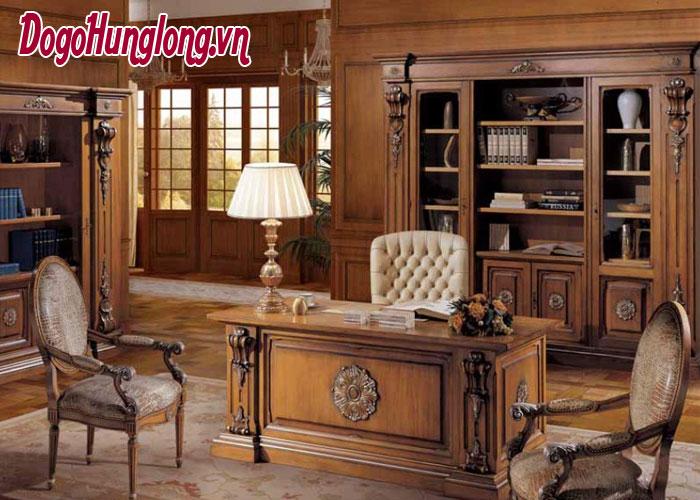 thiết kế phòng làm việc phong cách cổ điển