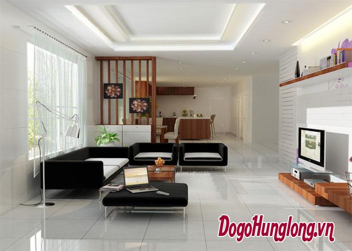 Thiết kế phòng khách chung cư theo phong cách mở lôi cuốn