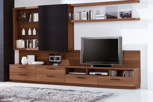 Mẫu kệ tivi gỗ tự nhiên phong cách cổ điển dành cho phòng khách
