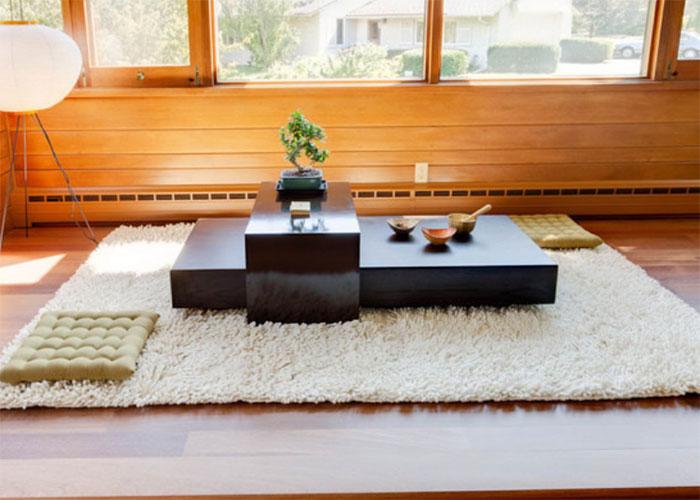 Bàn osin - Mẫu bàn trà kiểu Nhật đẹp cho thiết kế nội thất phòng khách
