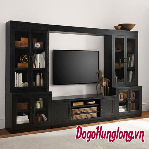 Mẫu tủ gỗ phòng khách đa năng siêu khỏe - siêu đẹp cho nhà siêu sang