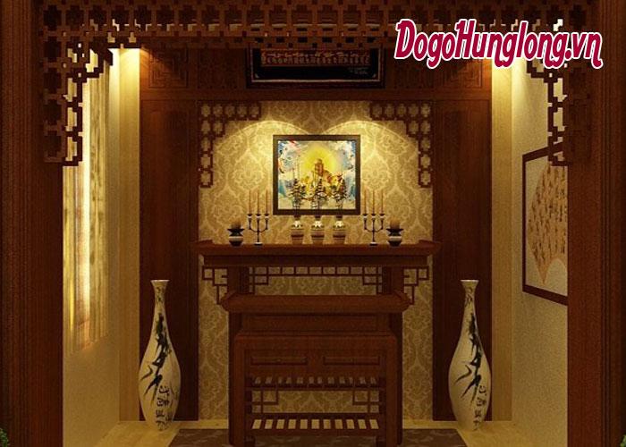 Trang trí bàn thờ phật tại nhà