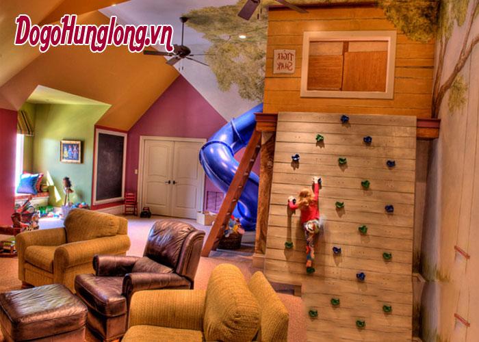 Thiết kế nội thất phòng áp mái