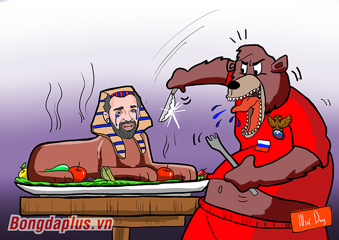 Gấu Nga làm thịt Salah