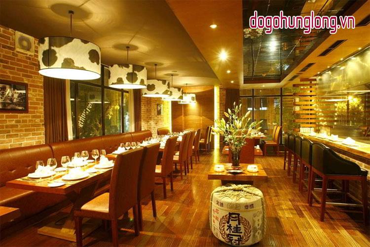 nội thất gỗ nhà hàng