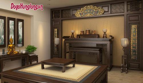 Mẫu thiết kế phòng thờ đẹp và trang nghiêm