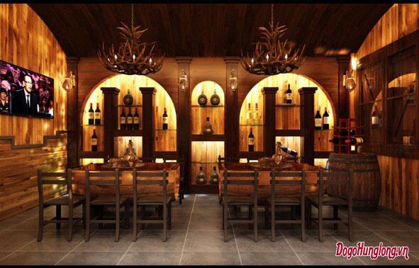 Mẫu thiết kế nhà hàng gỗ