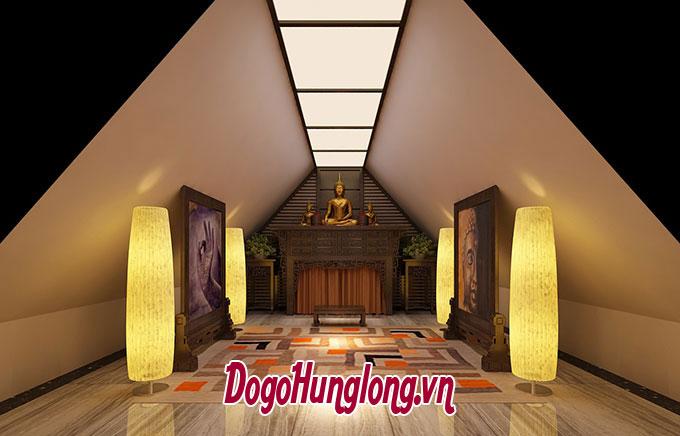 Không gian thờ tầng mái