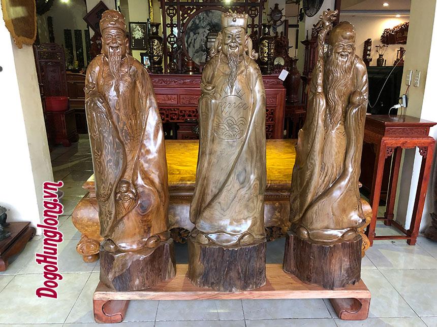 Phúc Lộc Thọ gỗ thuỷ tùng