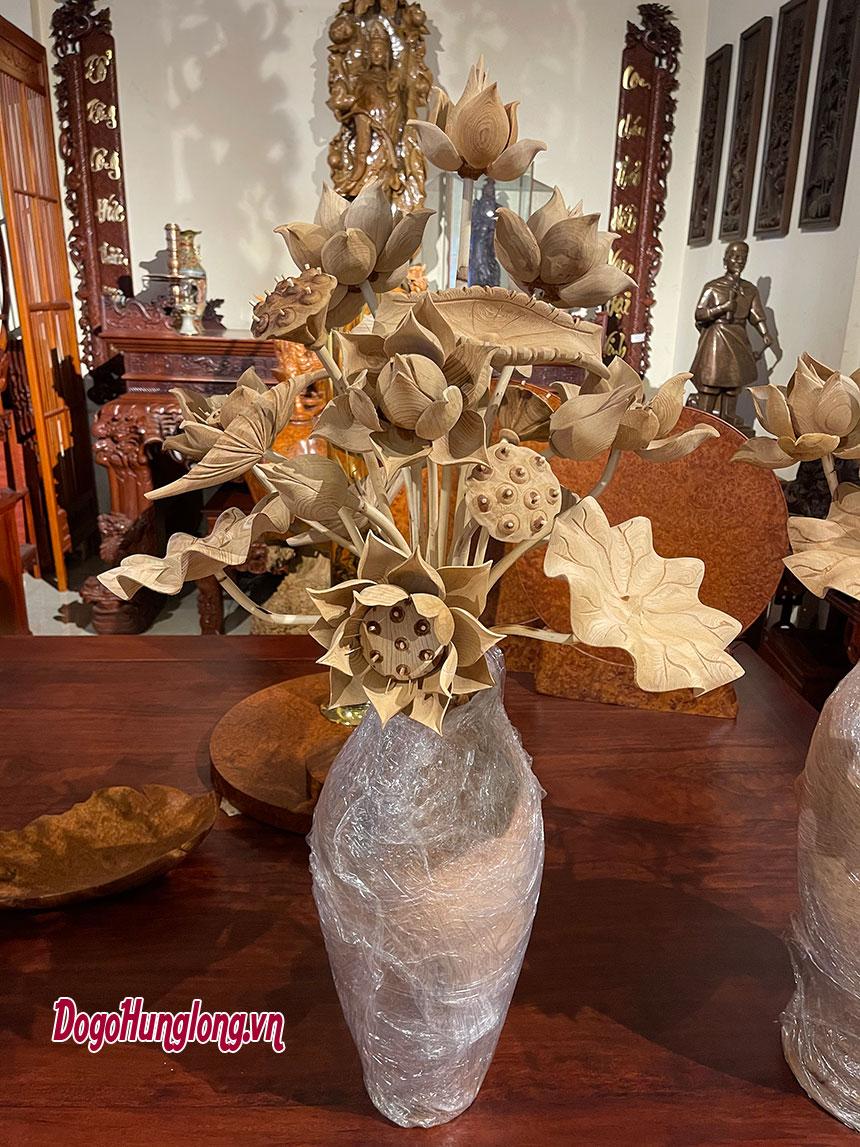 Bình sen gỗ ngọc am