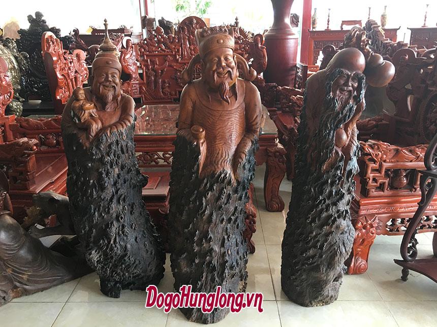 Tượng tam đa gỗ gõ đỏ
