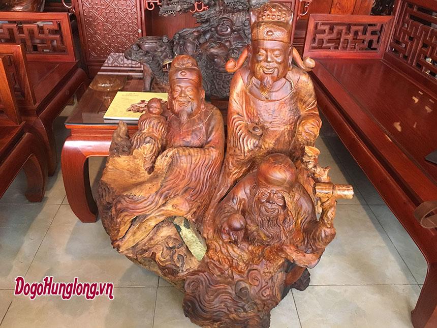 Tượng tam đa gỗ hương