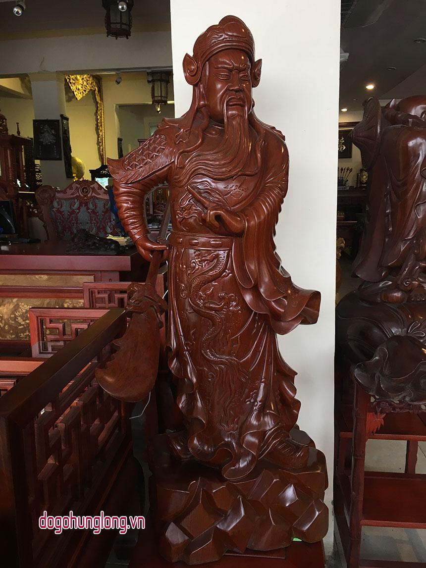 Tượng quan công gỗ hương