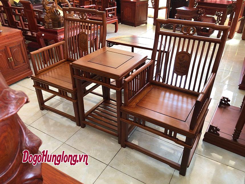 Bộ bàn ghế Minh nan tròn