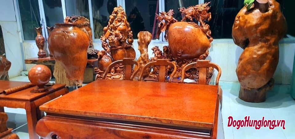 Bộ bàn ghế gỗ nu hương
