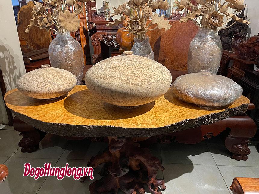 Mặt bàn trà nu hương mẫu 8