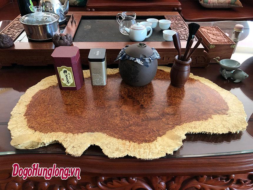 Mặt bàn trà gỗ nu hương mẫu 4