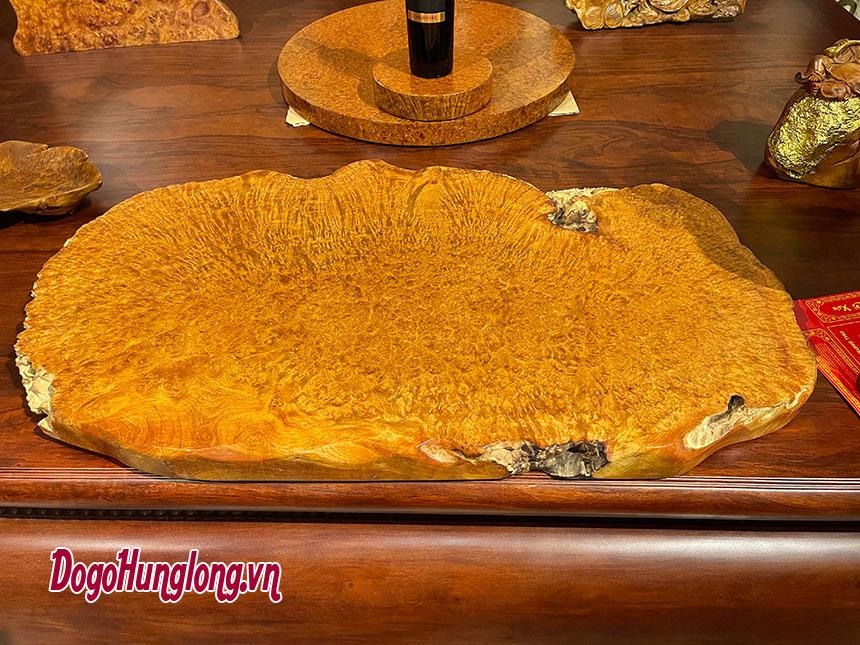 Mặt bàn trà gỗ nu hương mẫu 7