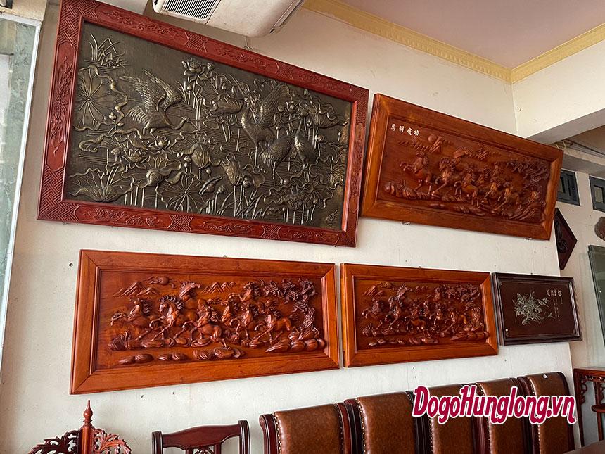Tranh gỗ đục nổi nguyên tấm khổ lớn