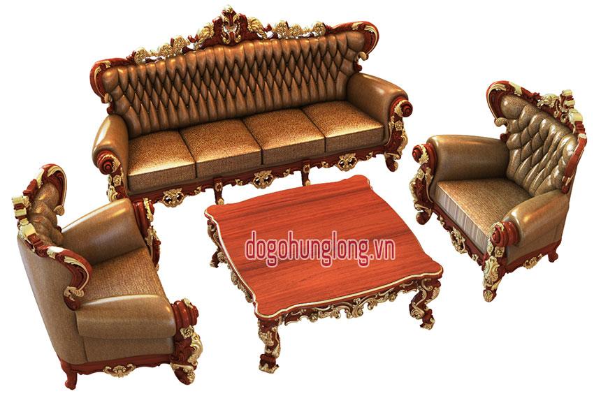 Thiết kế sofa theo phong cách tân cổ điển