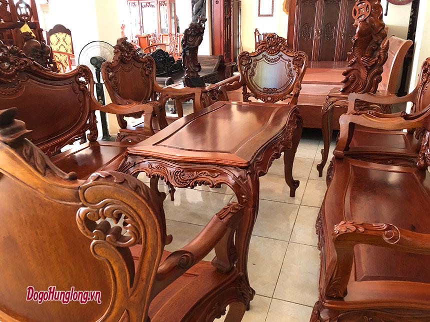 Bộ bàn ghế phòng khách Louis XIV