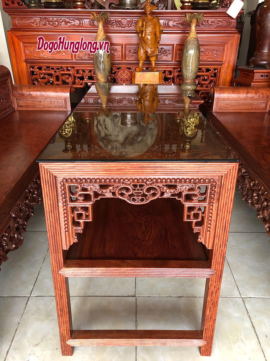Bộ bàn ghế trường kỷ gỗ cẩm, 4 món