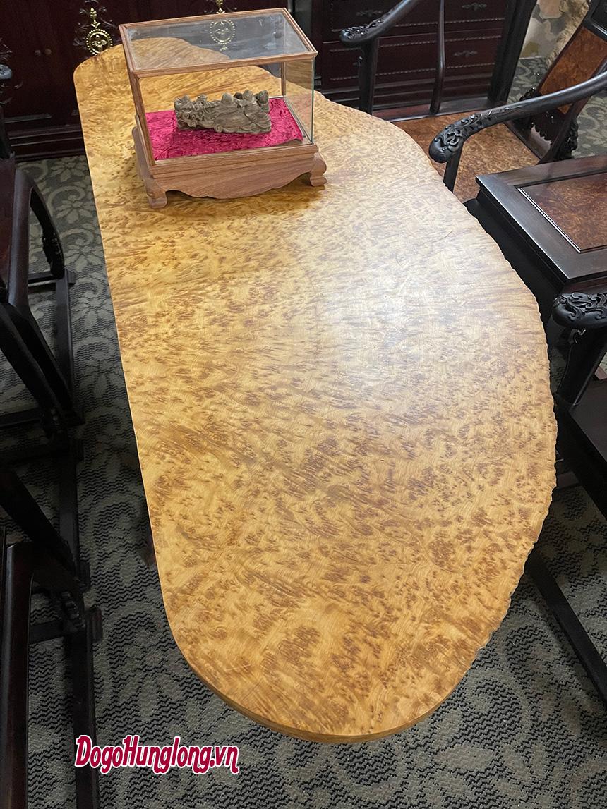 Mặt bàn trà gỗ nu hương