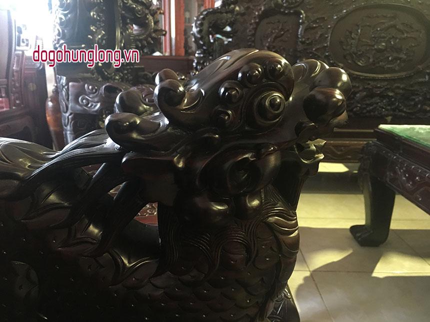 Bộ bàn ghế Long Đỉnh, gỗ trắc, 8 món