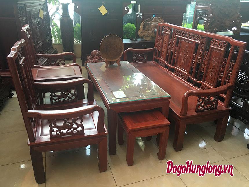 Bộ bàn ghế hoa lan tây