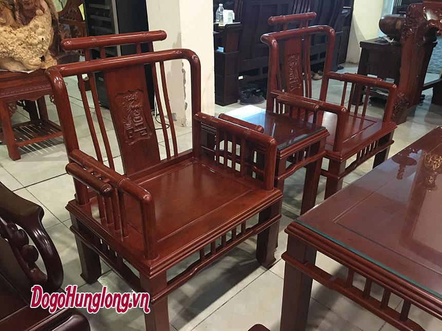 Bộ bàn ghế trúc gỗ hương