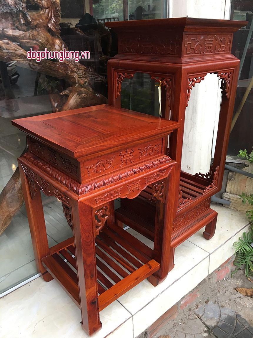 Đôn gỗ hương Lào, đôn thấp kt 60x40x40cm, đôn cao 100cm