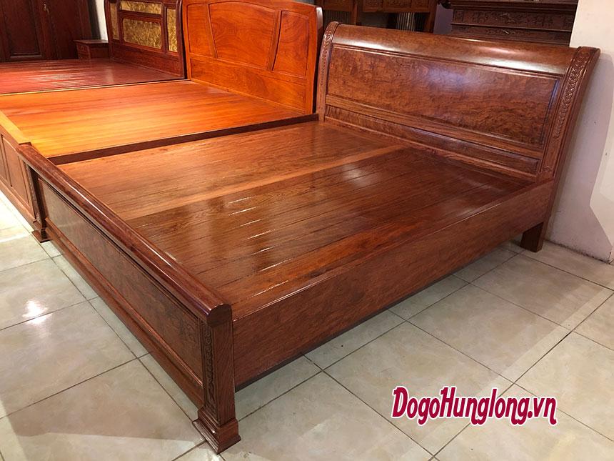 Giường đôi, gỗ cẩm, 1,8x2m