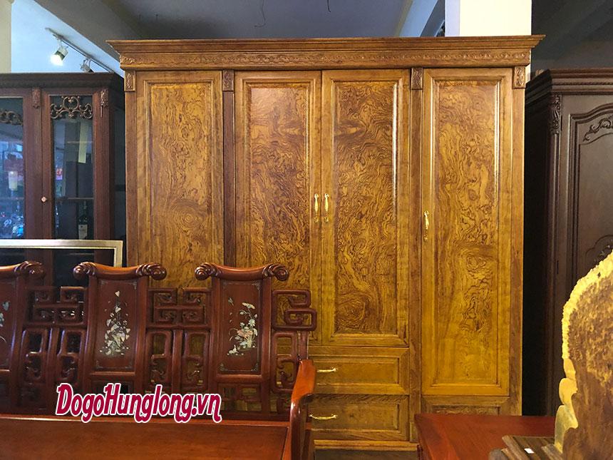 Tủ quần áo gỗ cẩm