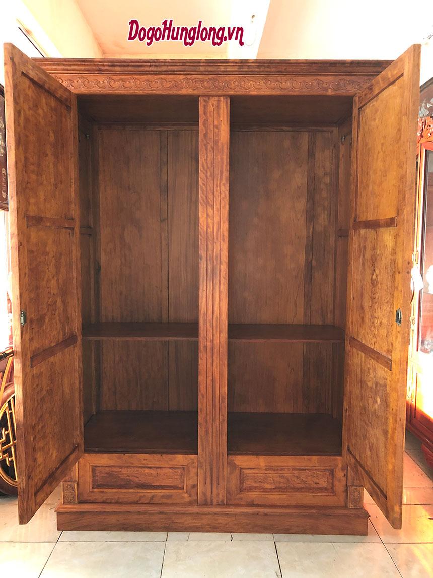 Tủ quần áo, gỗ cẩm, 2 buồng