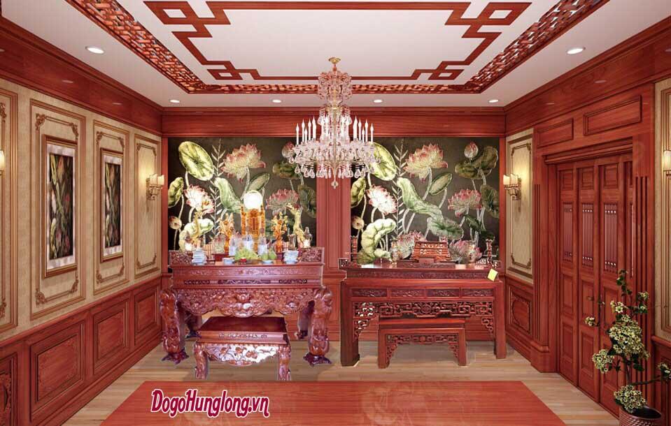 Thiết kế không gian thờ theo yêu cầu của quý khách