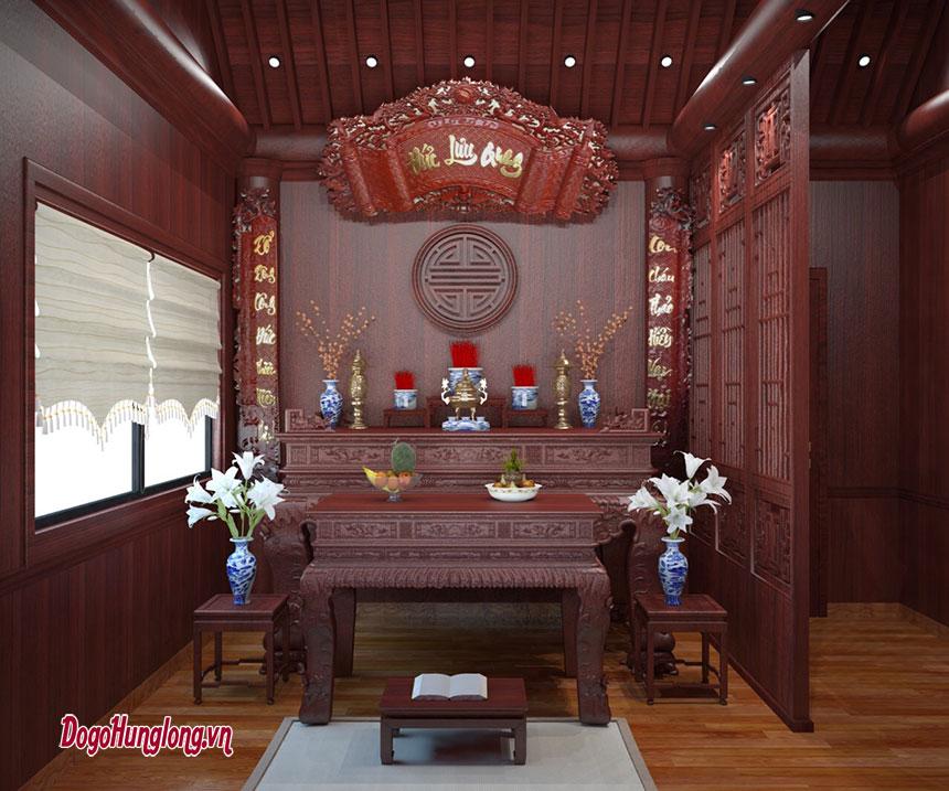 Không gian thờ dành cho gia đình
