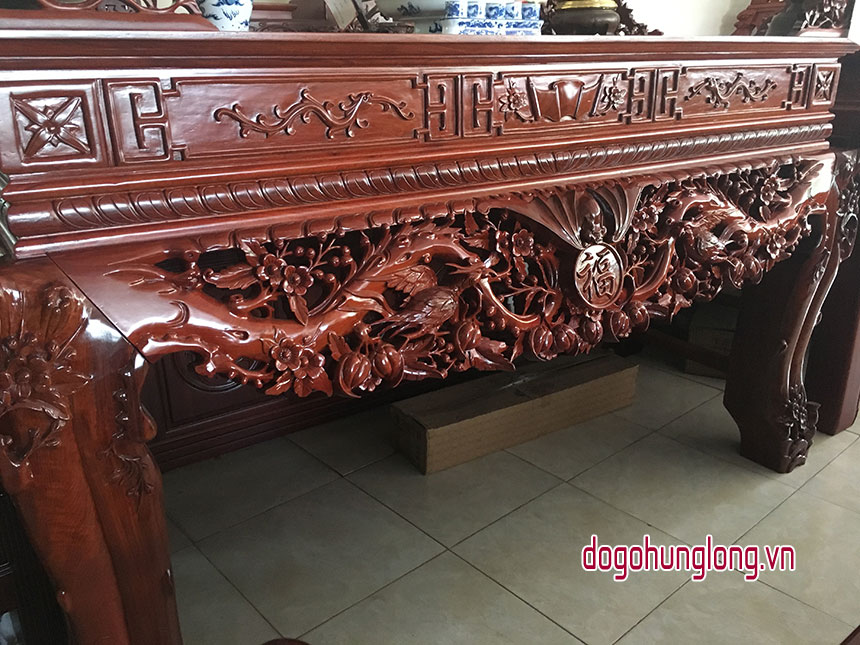 Bàn thờ Mai Điểu gỗ hương mẫu mới