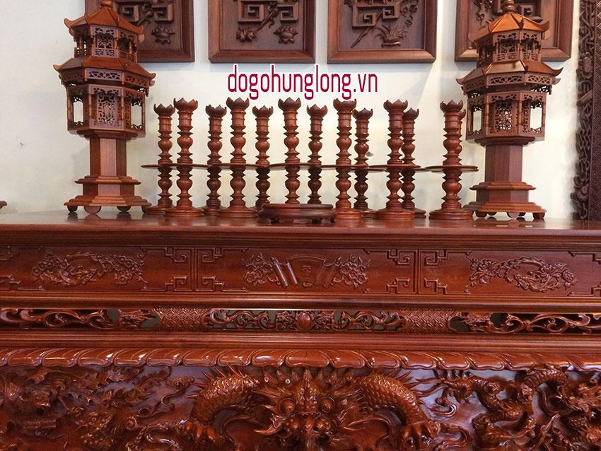 Sập thờ gỗ hương cao cấp