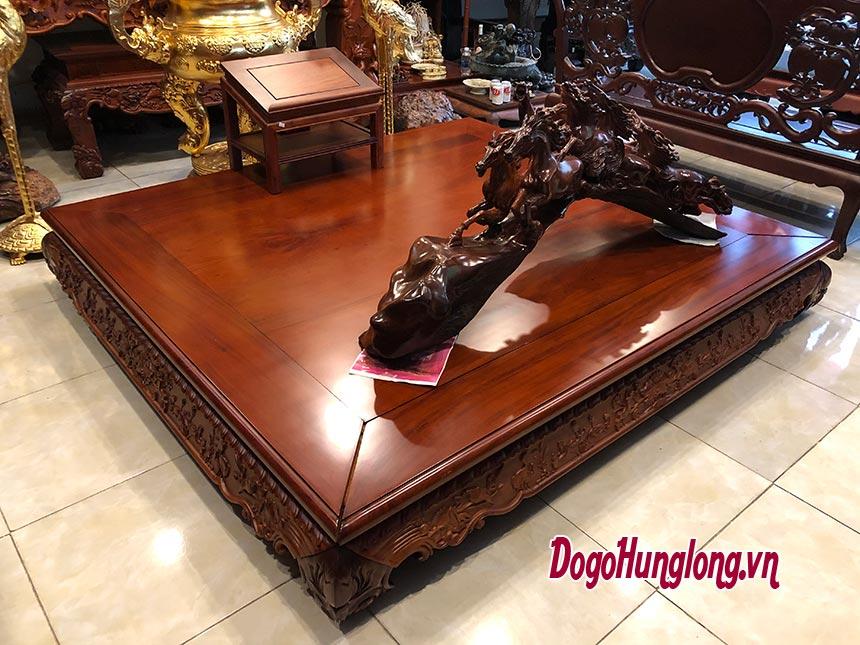 Sập gỗ hương chân lùn