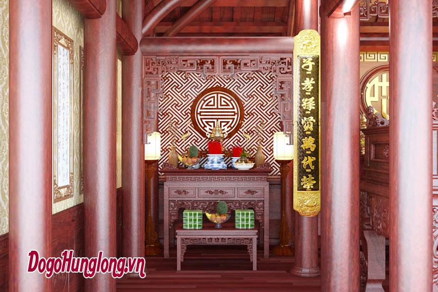 Decor phòng thờ theo đặt hàng của khách