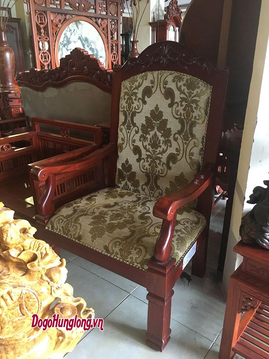Ghế khánh tiết gỗ hương, bọc da cao cấp